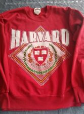 1990 Vtg HARVARD University crew neck Alumni Sweatshirt Emblem logo size medium