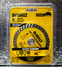 """DeWalt DW4700 4"""" Turbo Rim Smooth Cutting XP Diamond 450X Blade"""