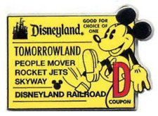 Disney Pin 40554 Global Lanyard Mickey D Ticket Railroad Train Tomorrowland A1