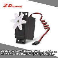 Topselling ZD Racing 3.5KG Steering Waterproof Servo for 1/10 1/12 RC Car Z5F0