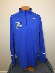 NIKE Dri-Fit Blue Hood To Coast Run Rest Repeat Oregon 200 Miles Men's Size XXL
