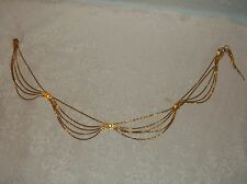 Vintage Christian Dior 5 Strand Chain Scallop Section Necklace or Belt
