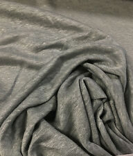 "100% Linen Jersey Knit Fabric By Yard  Semi Sheer highend fabric 58"" WET SAND"