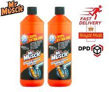 Mr Muscle Sink Drain Gel Unblocker Pipe Plughole Kitchen Bathroom Cleaner 1L 2PK