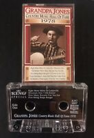 Grandpa Jones Country Music Hall of Fame Cassette Rare Bluegrass 70s King Label