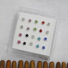 Fashion Jewelry Nose Rings Body Piercing Gems Flower Nose Studs Ring