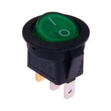 Interruttore a Bilanciere 12V On-Off Verde Illuminato Tondo Diametro 23mm