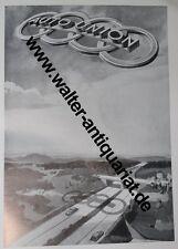 Auto Union Entwurf: V.Mundorff Große Werbeanzeige anno 1940 Reklame advertising