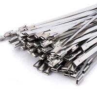 100 Stück Edelstahl Kabelbinder Metall Band Hitzeschutzband 300x4.6mm Zip Kabel