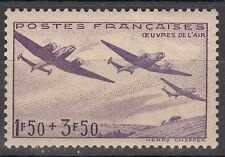 FRANCE TIMBRE  N° 540  **  OEUVRES DE L AIR AVIATION