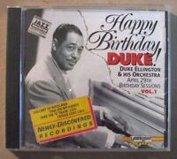 Happy Birthday, Duke! The Birthday Sessions, Vol. 1 by Duke Ellington (CD, Apr-1