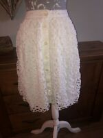 Jaeger Ladies White Size 8 Midi Skirt Unusual Quirky