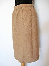 Pendleton Skirt Size 12  Wool Tweed Tan Brown Off White Partially Lined