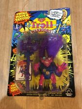 Troll Warriors Oddvar The Wizard 1992 Tyco Troll Power Tattoo Purple New