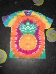 Pineapple handmade Tie Dye T shirt UNISEX SIZES S-5XL HIPPY FESTIVAL
