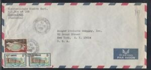 CAMBODIA Commercial Cover Phnom Penh to New York City 27-12-1968 Cancel