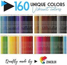 160 Matite Colorate Numerate Zenacolor Facili da Sistemare con Astuccio