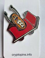 "Bitcoin Roller Coaster 2"" Hard Enamel Metal Pin"