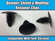 10x Clips Para Ford Chrysler escudo de Fender Mud Flap & Parachoques Retenedor De Nylon Negro
