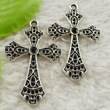 120 pieces tibet silver cross charms pendant 41x26mm#4644 free ship