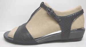 Ecco Size EUR 41 US 10 10.5 Gray Leather Sandals New Womens Shoes