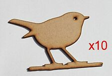 Pack of 10 ~ 25mm High HQ MDF Gardeners friend Robins 3mm embelishment #02