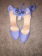 WOMENS BluE OLD NAVY PLATFORM WEDGE Shoes HIGH HEELS  SIZE 10 With Tie Straps