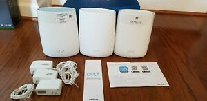NETGEAR RBK53 Orbi AC3000 Tri-band WiFi System (Very Well Taken Care Of)