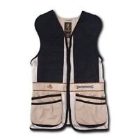 Browning Team Shooting Vest - Ambidextrous - Beige/ Black - S, M, L (F)