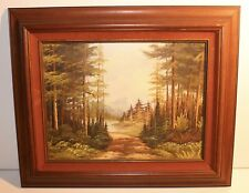 Framed Original Oil Painting Boyd McNeill Landscape Wilderness Trail 22x19