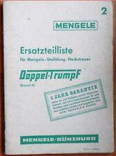 Mengele Stalldung - Heckstreuer Doppel Trumpf Ersatzteilliste