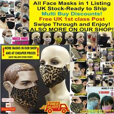Breathable Cotton Face Mask Unisex Reusable Washable LOT Protection KIDS TOO