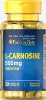 Puritan's Pride L-Carnosine 500 mg - 30 Capsules