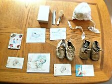 Antique Baby Shoes ~ Bonnet ~ Comb & Brush Set & Misc Baby Cards