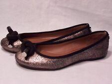 New Donald J Pliner Gracie Silver Metallic Ballet Flats Slip on Shoes Size 6.5 M