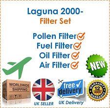 For Renault Laguna Mk 2 1.9 DCi 2000- Pollen Air Fuel & Oil Filter Service Kit