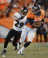 Julius Thomas Autographed 16x20 Vertical Against Ravens Photo- JSA Authenticated