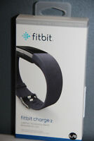 NEW SEALED Fitbit Charge 2 Leather Accessory Band Large Indigo Navy (Band Only)
