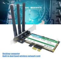 2.4G/5G Dual-Band PCI-E Wireless Network Card WiFi 450Mbps for Desktop Computer