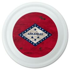 """Rustic Arkansas State Flag Distressed USA Novelty 9"""" Flying Disc"""