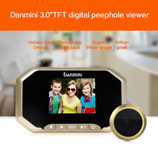 "3"" Digital Peephole 160°Viewer Door Eye Doorbell IR Security Camera Gold"
