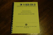 Set of 4 Manuals for Collins R-390A Receiver  Op Repair Parts Checkout