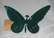 Butterfly Steel Green Powder Coated Hanging Decoration Made in Usa Butterflies