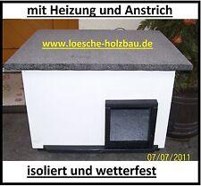 Katzenhaus mit Heizung weiß Katzenhütte Wurfkiste Wetterfest isoliert beheizt