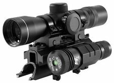 SKS 3-9X40 Illuminated Rifle Scope With Mount and Green Laser Sight Kit
