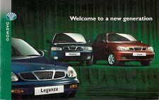 Daewoo 1997-98 UK Market Sales Brochure Lanos Nubira Leganza