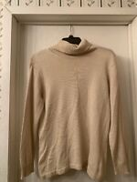 Talbots Women's Silk & Cashmere Sweater Turtle Neck Long Sleeves Beige Size L