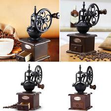 Ferris Wheel Design Vintage Manual Coffee Grinder Cast Iron Wooden Coffee Mill