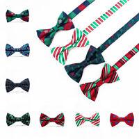 1Pc Men Stylish Christmas Tie Adjustable Wedding Cravat Fashion Bowknot Bow Tie
