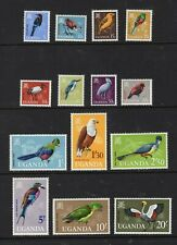 Uganda 1965 Complete Bird Set - OG MNH - SC# 97-110  Cats $55.00